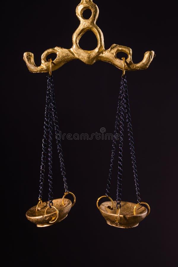 Χαλκός Libra ως σύμβολο δικαιοσύνης ή ως Zodiac σημάδι στοκ εικόνες