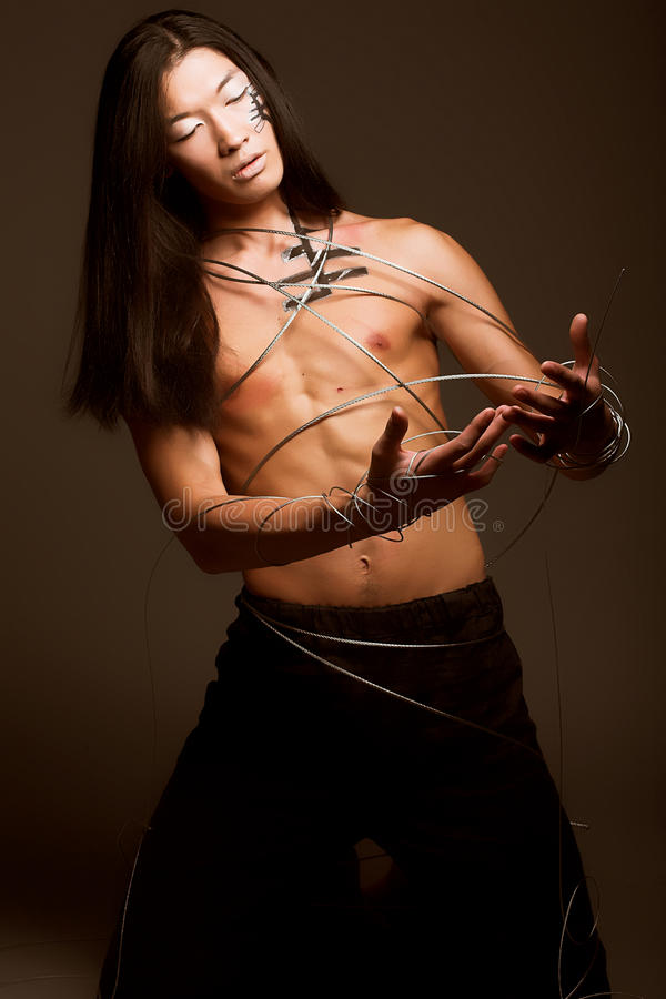 χαλύβδινο σύρμα ατόμων στοκ φωτογραφία