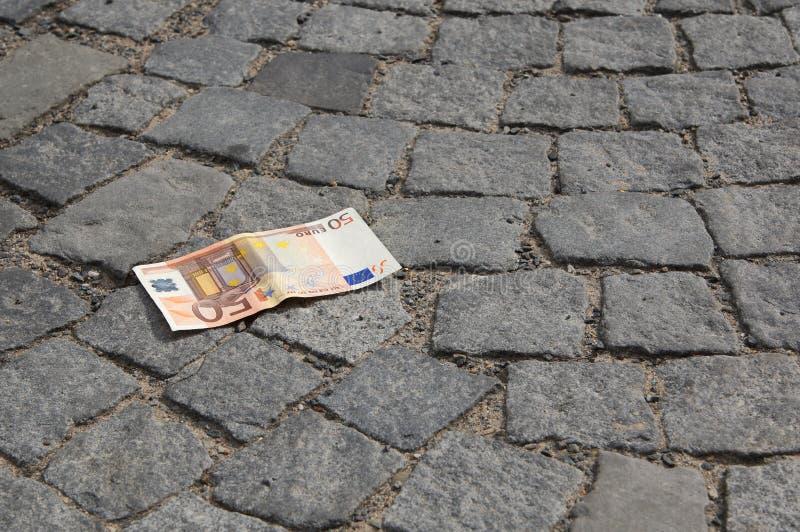 Χαμένα μετρητά στοκ φωτογραφία με δικαίωμα ελεύθερης χρήσης