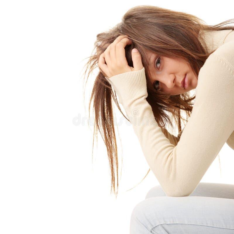 χαμένη κορίτσι αγάπη κατάθλ&i στοκ εικόνες