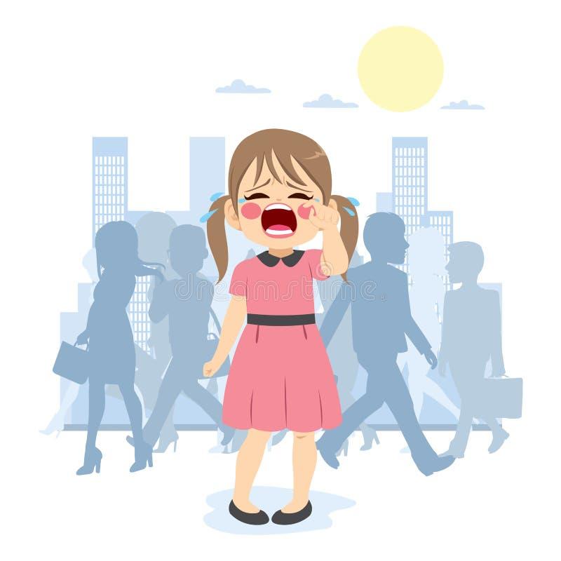 Χαμένη πόλη κοριτσιών ελεύθερη απεικόνιση δικαιώματος