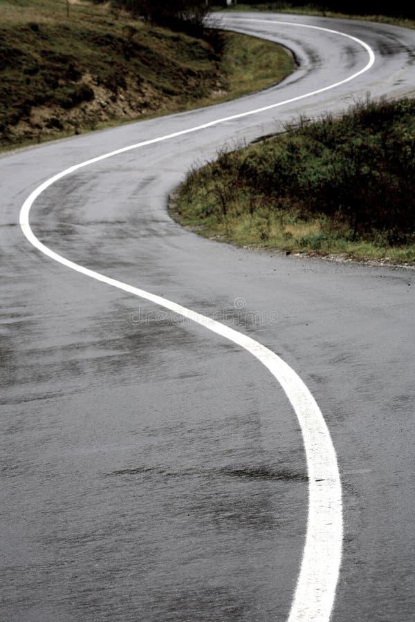 χαμένος δρόμος βουνών στοκ φωτογραφίες