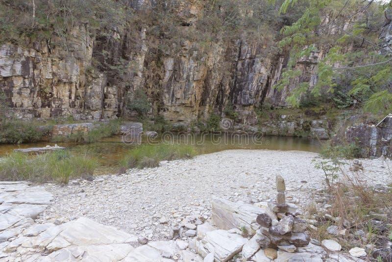 Χαμένος παράδεισος, Serra DA Canastra, Minas Gerais, Βραζιλία στοκ εικόνα με δικαίωμα ελεύθερης χρήσης