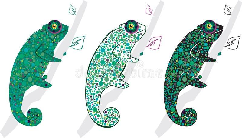 χαμαιλέοντες χαριτωμένο&io απεικόνιση αποθεμάτων