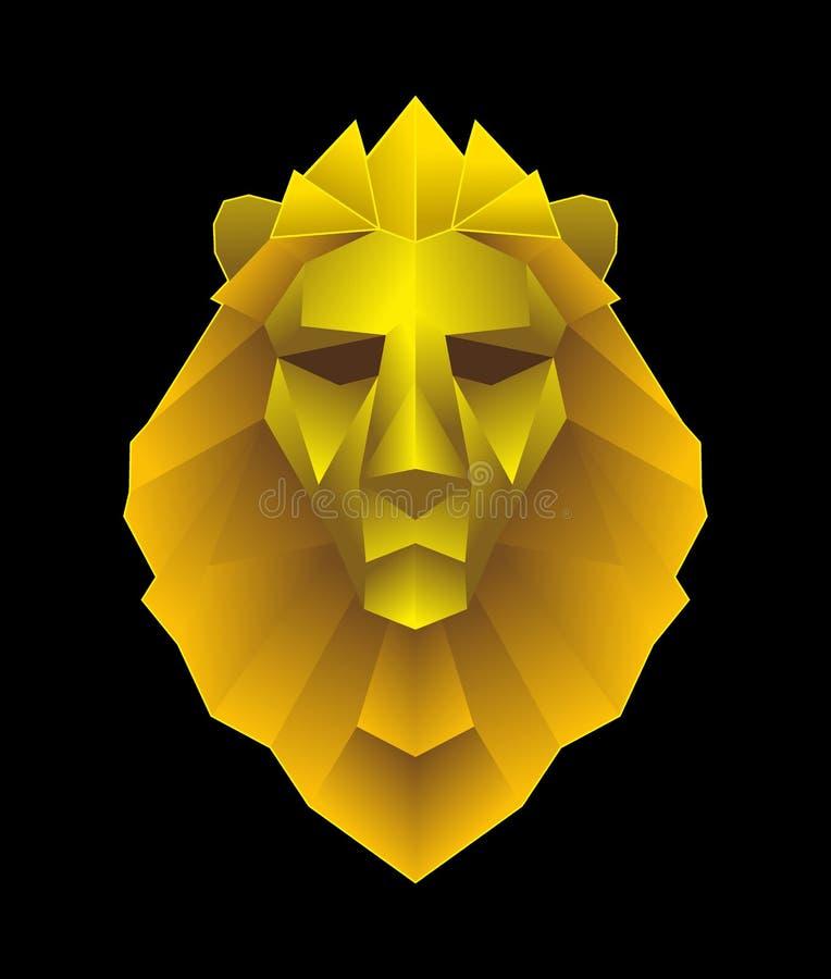 Χαμηλή επικεφαλής απεικόνιση λιονταριών poligon απεικόνιση αποθεμάτων