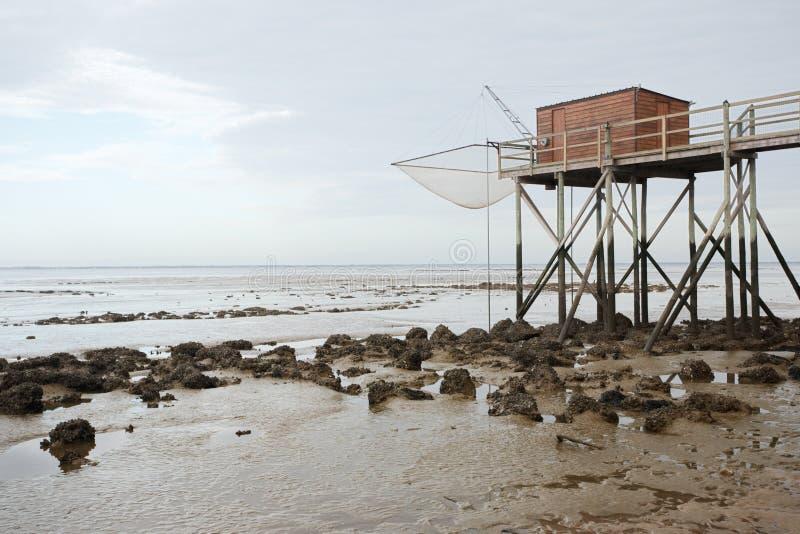 χαμηλή παλίρροια καλυβών στοκ εικόνες με δικαίωμα ελεύθερης χρήσης