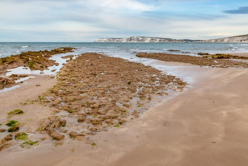 Χαμηλή παλίρροια Compton στην παραλία στοκ φωτογραφίες με δικαίωμα ελεύθερης χρήσης