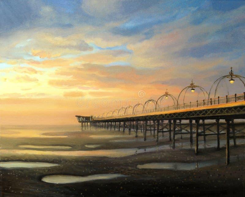 χαμηλή παλίρροια southport στοκ φωτογραφία με δικαίωμα ελεύθερης χρήσης