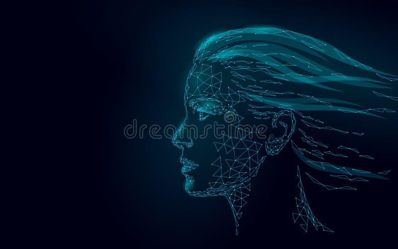 Χαμηλή πολυ θηλυκή επεξεργασία δερμάτων λέιζερ ανθρώπινου προσώπου Προσοχή σαλονιών ομορφιάς διαδικασίας αναζωογόνησης Cosmetolog απεικόνιση αποθεμάτων
