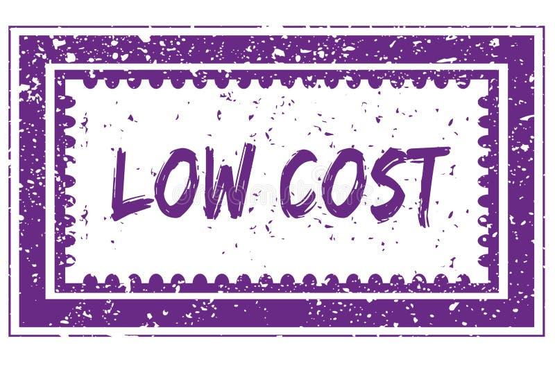 ΧΑΜΗΛΟΤΕΡΟ κόστος στο ροδανιλίνης γραμματόσημο πλαισίων grunge τετραγωνικό απεικόνιση αποθεμάτων