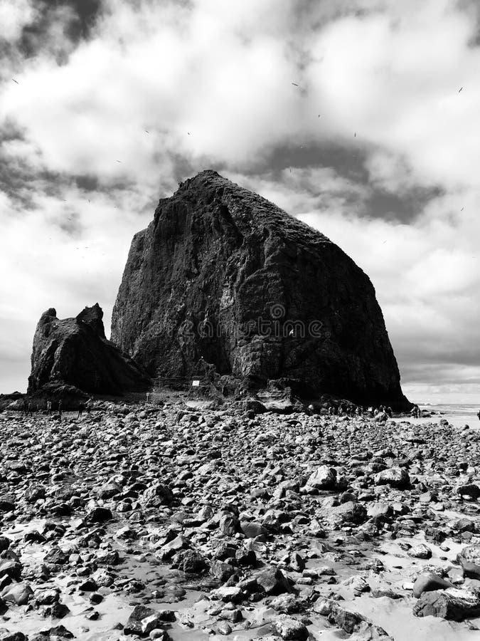 Χαμηλός βράχος θυμωνιών χόρτου παλίρροιας στοκ φωτογραφία με δικαίωμα ελεύθερης χρήσης