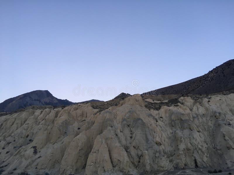 Χαμηλότερη περιοχή μάστανγκ στο κύκλωμα Annapurna στα βουνά Himalayan στο Νεπάλ στοκ φωτογραφία με δικαίωμα ελεύθερης χρήσης