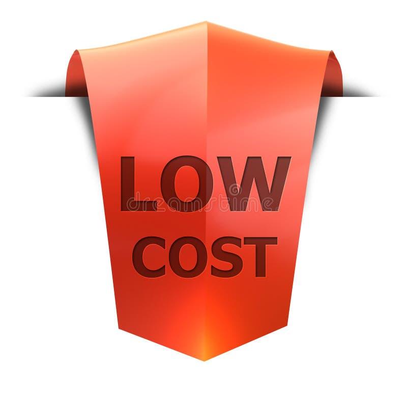 Χαμηλότερο κόστος εμβλημάτων διανυσματική απεικόνιση