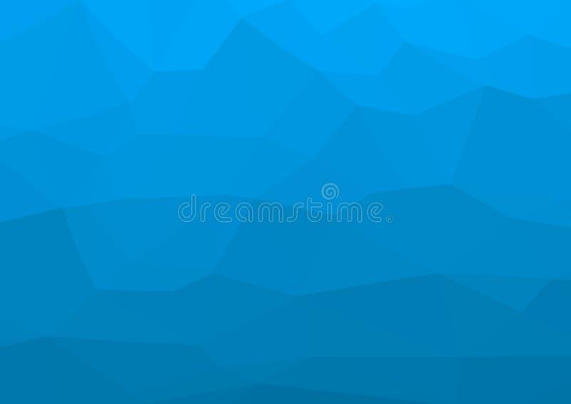 Χαμηλό πολυ κυανό, μπλε αφηρημένο υπόβαθρο υπό μορφή βράχων και βουνών Γεωμετρικό triangulation βουνό βράχου r ελεύθερη απεικόνιση δικαιώματος