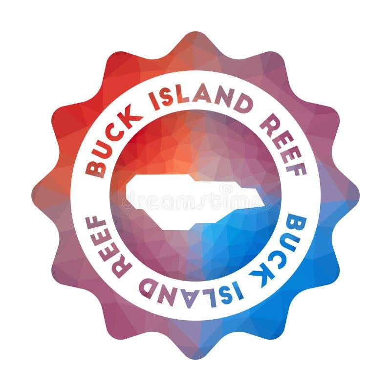 Χαμηλό πολυ λογότυπο σκοπέλων νησιών Buck διανυσματική απεικόνιση