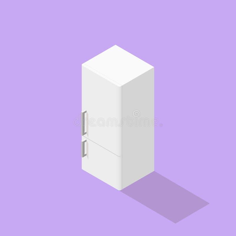 Χαμηλό πολυ isometric ψυγείο διανυσματική απεικόνιση
