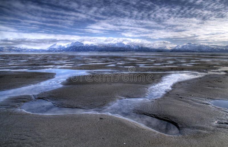 χαμηλό ύδωρ παλίρροιας λιμνών στοκ φωτογραφία
