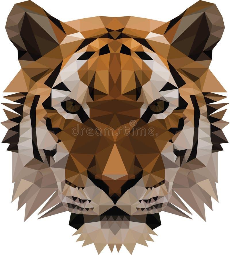 Χαμηλή πολυ τίγρη διανυσματική απεικόνιση
