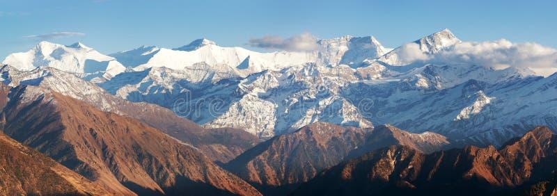 Χαμηλότερα Dolpo και Dhaulagiri himal στοκ εικόνα