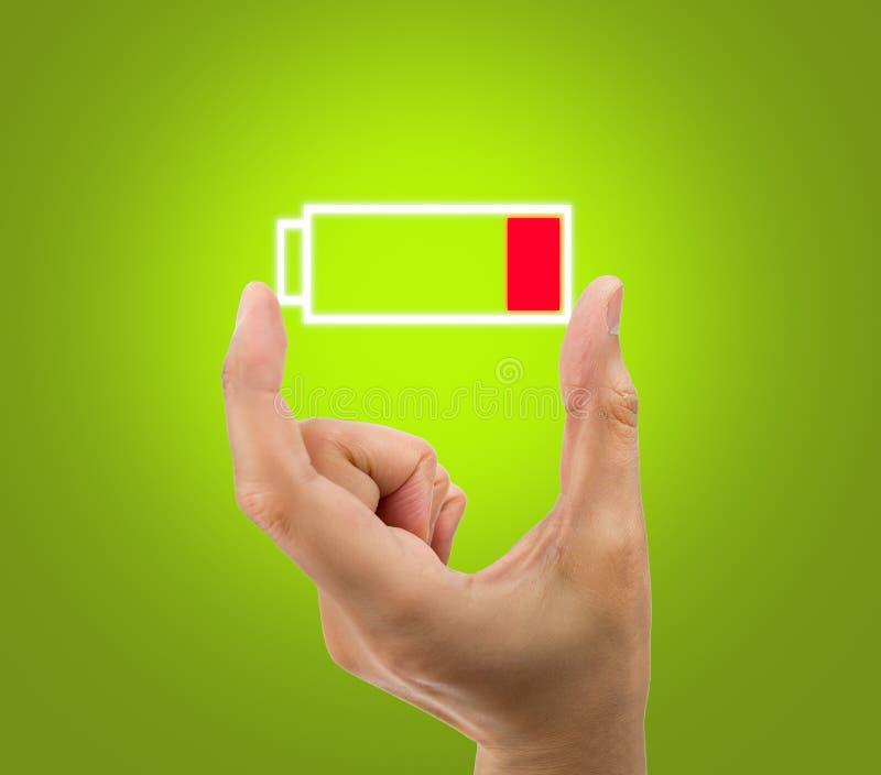 Χαμηλό εικονίδιο μπαταριών στοκ φωτογραφίες με δικαίωμα ελεύθερης χρήσης