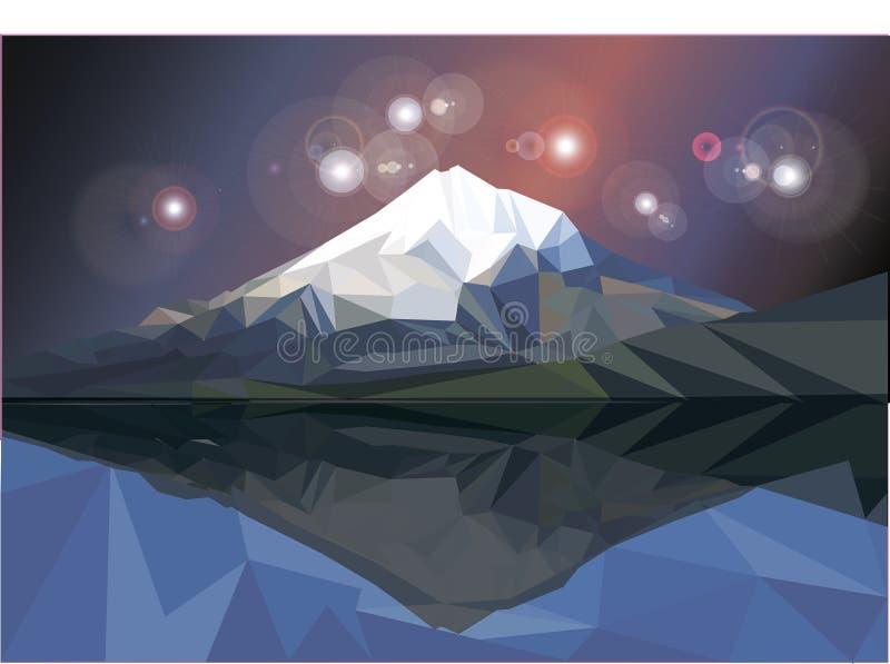 Χαμηλό πολυ διανυσματικό βουνό στοκ φωτογραφία με δικαίωμα ελεύθερης χρήσης