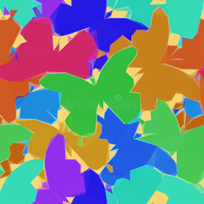 Χαμηλό πολυ σχέδιο πεταλούδων διανυσματική απεικόνιση
