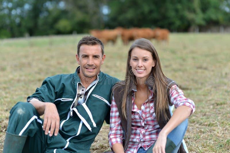 Χαμογελώντας αγρότες στοκ φωτογραφίες