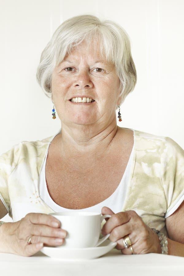 Χαμογελώντας ανώτερη κυρία στοκ εικόνες με δικαίωμα ελεύθερης χρήσης