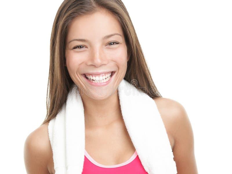 χαμογελώντας γυναίκα ι&kappa στοκ εικόνα με δικαίωμα ελεύθερης χρήσης