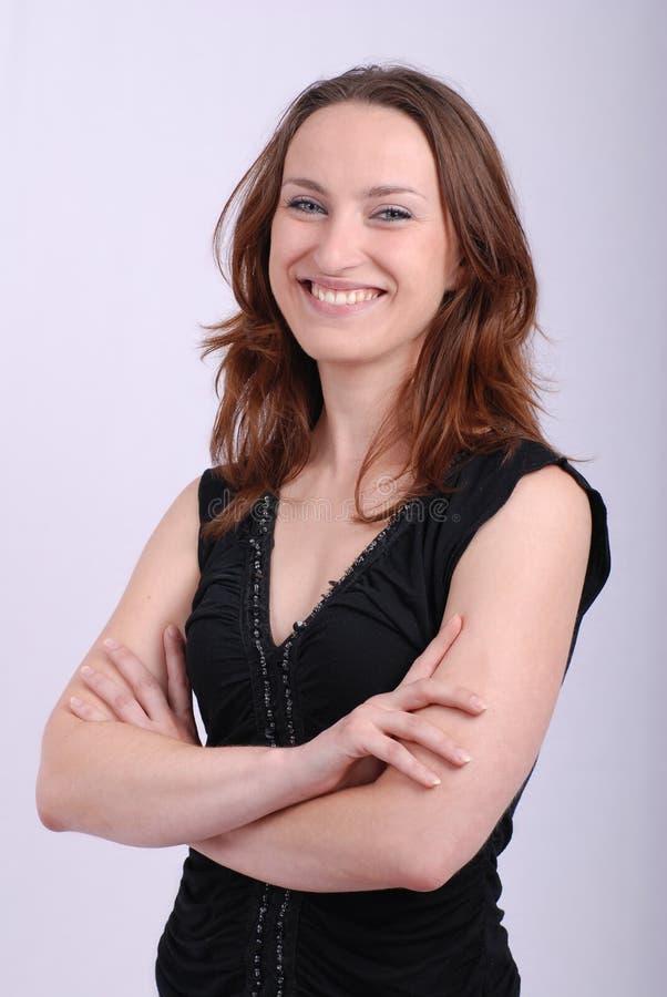 χαμογελώντας γυναίκα πορτρέτου στοκ φωτογραφίες