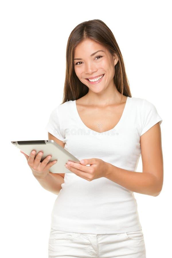χαμογελώντας γυναίκα τα στοκ φωτογραφία με δικαίωμα ελεύθερης χρήσης