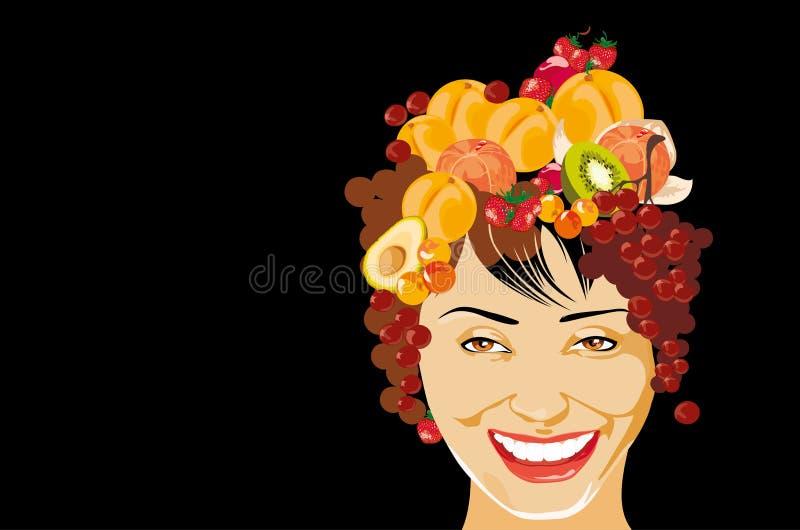 χαμογελώντας γυναίκα απεικόνιση αποθεμάτων