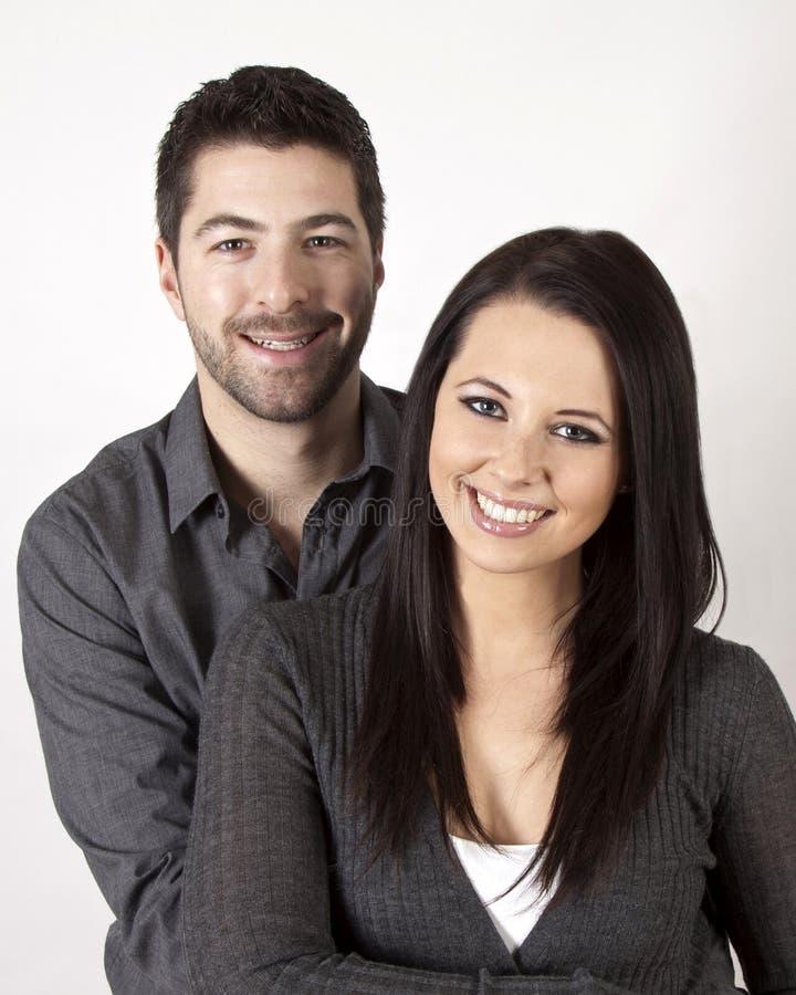 Χαμογελώντας ζεύγος στοκ φωτογραφία