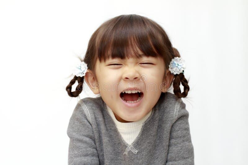 Χαμογελώντας ιαπωνικό κορίτσι στοκ εικόνες