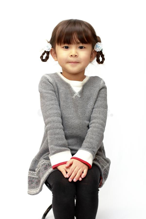 Χαμογελώντας ιαπωνικό κορίτσι στοκ εικόνα