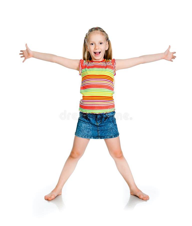 Χαμογελώντας μικρό κορίτσι στοκ φωτογραφία με δικαίωμα ελεύθερης χρήσης