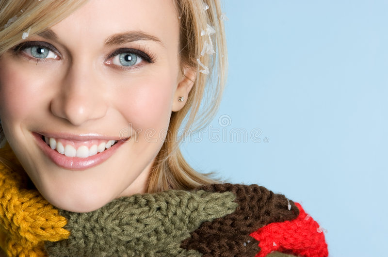 χαμογελώντας χειμερινή &gamm στοκ φωτογραφία