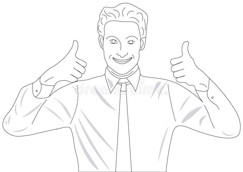 Χαμογελώντας άτομο σε έναν δεσμό και ένα πουκάμισο στοκ φωτογραφία