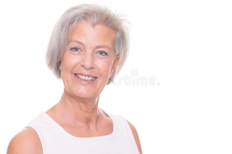 Χαμογελώντας ανώτερη γυναίκα στοκ εικόνες με δικαίωμα ελεύθερης χρήσης