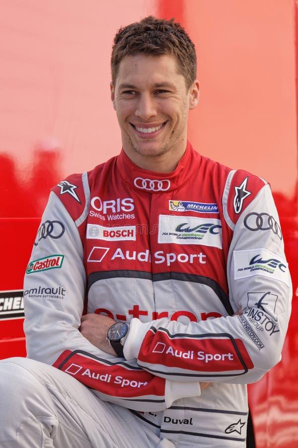 Χαμογελώντας γαλλικός οδηγός Loic Duval στοκ εικόνες με δικαίωμα ελεύθερης χρήσης