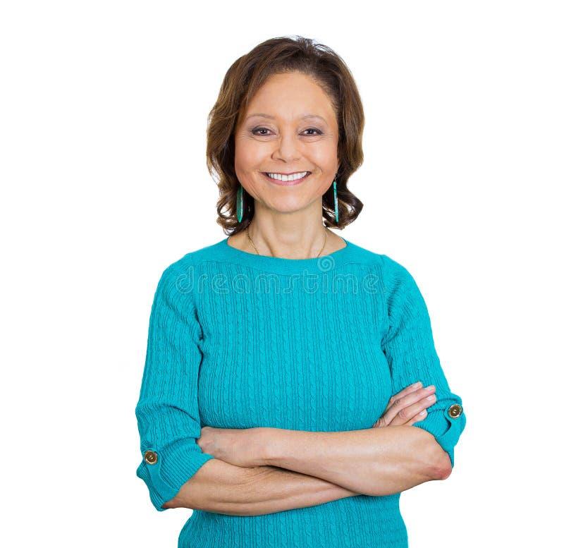 Χαμογελώντας ευτυχής γυναίκα στοκ φωτογραφία με δικαίωμα ελεύθερης χρήσης