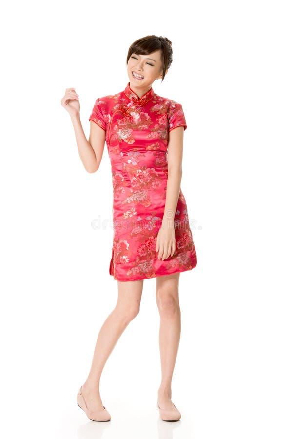 Χαμογελώντας κινεζική γυναίκα στοκ εικόνες