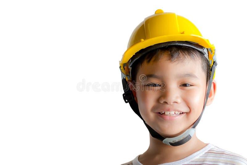 Χαμογελώντας νέος μηχανικός αγοριών στοκ φωτογραφία με δικαίωμα ελεύθερης χρήσης