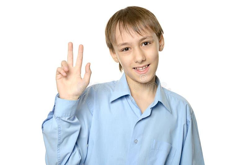χαμογελώντας νεολαίες αγοριών στοκ εικόνα με δικαίωμα ελεύθερης χρήσης