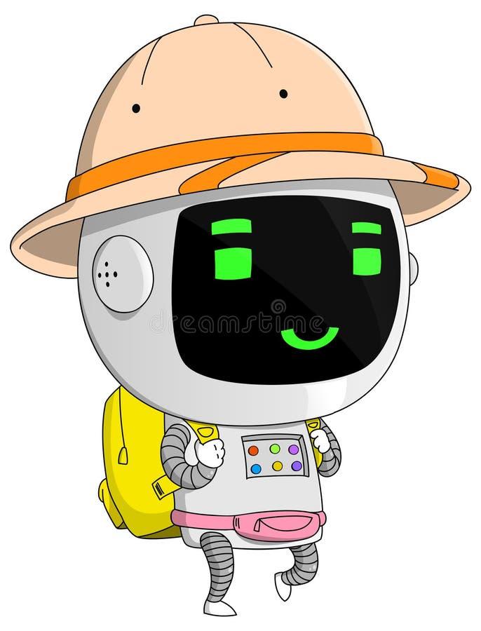 Χαμογελώντας ταξιδιώτης ρομπότ στοκ φωτογραφία με δικαίωμα ελεύθερης χρήσης