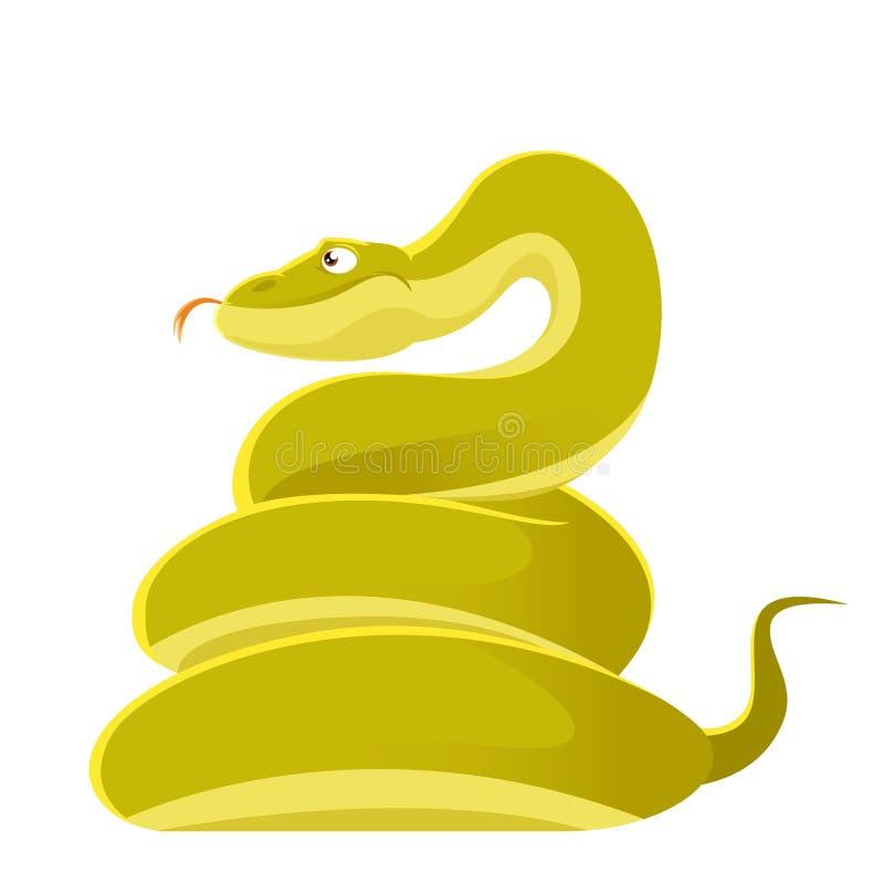 Χαμογελώντας φίδι κινούμενων σχεδίων διανυσματική απεικόνιση