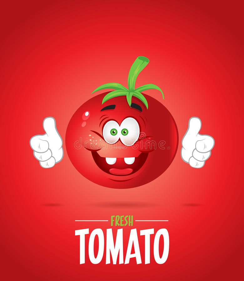 Χαμογελώντας φρέσκια ντομάτα στοκ εικόνες