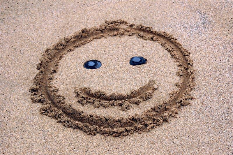 χαμόγελο άμμου στοκ εικόνες