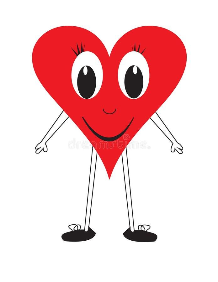 χαμόγελο αγάπης καρδιών αριθμού απεικόνιση αποθεμάτων