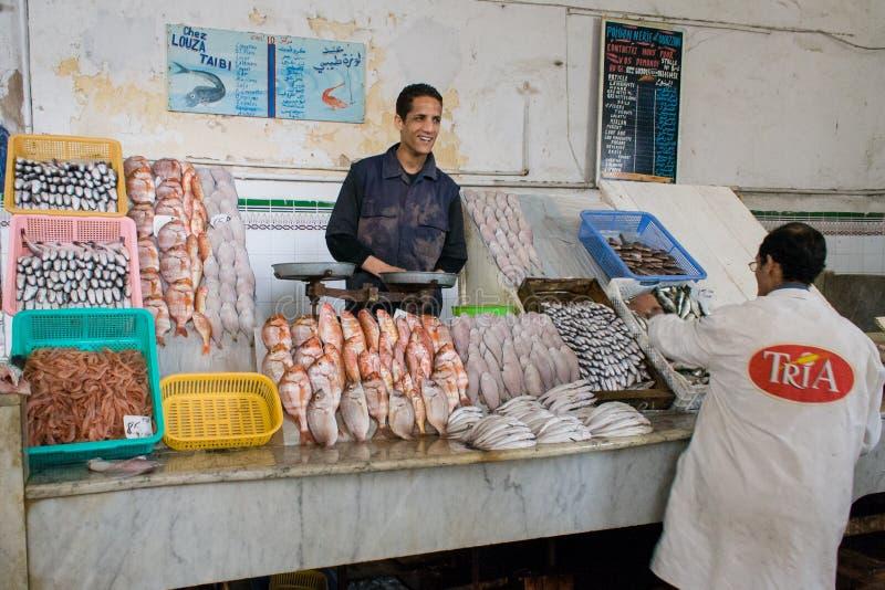 χαμόγελο αγοράς ψαριών στοκ εικόνα με δικαίωμα ελεύθερης χρήσης